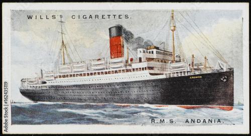 Photo  Steamship 'Andania'. Date: 1924