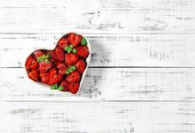 Strawberries Heart Wooden Back...