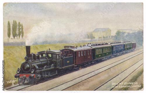 Valokuvatapetti Orient Express Postcard. Date: 1907