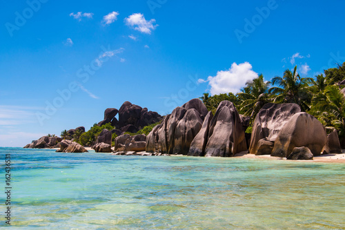 Foto op Canvas Tropical strand Anse Source D'Argent, La Digue, Seychelles