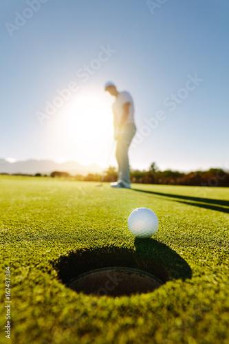 Poster Golf Professional golfer putting golf ball