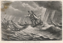 Ships In Stormy Sea. Date: 1780