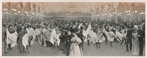 Photo  Ball at the Moulin Rouge club in Paris. Date: 1898