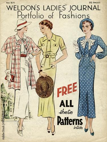 Tela  Weldon's fashionable women. Date: 1935