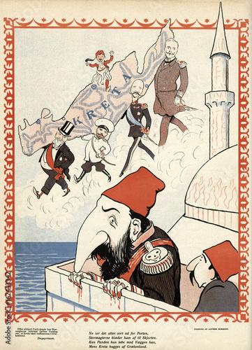 Turkey Loses Crete. Date: 1901 Wallpaper Mural