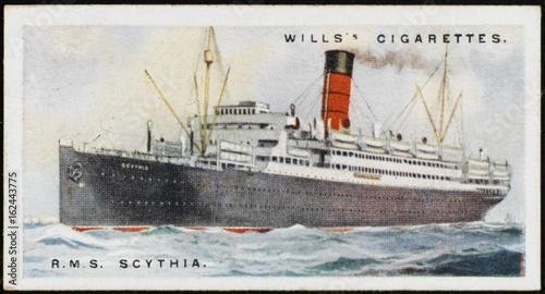 Photo  Steamships - 'Scythia'. Date: 1924