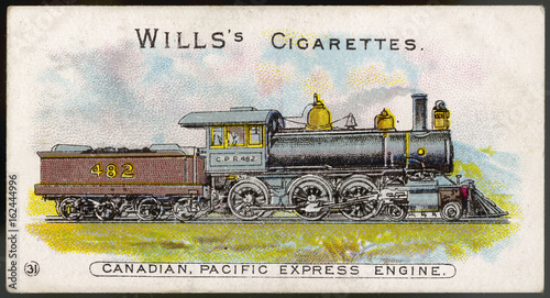 Express locomotive of the Canadian Pacific Railway (CPR) Wallpaper Mural