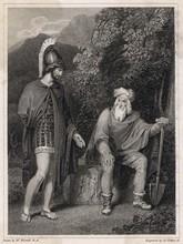 Odysseus Visiting His Father  Laertes