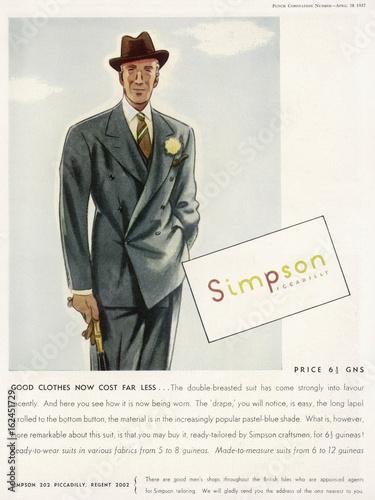 Valokuva Simpson's Suit 1937. Date: 1937
