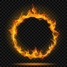 Ring Of Fire Flame. Transparency Only In Vector Format