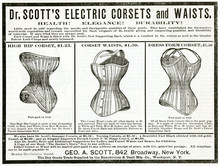 Advert For Dr Scott's Electric Corsets 1890. Date: 1890