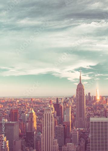 View of New York City skyline seen from midtown Manhattan looking downtown Wallpaper Mural