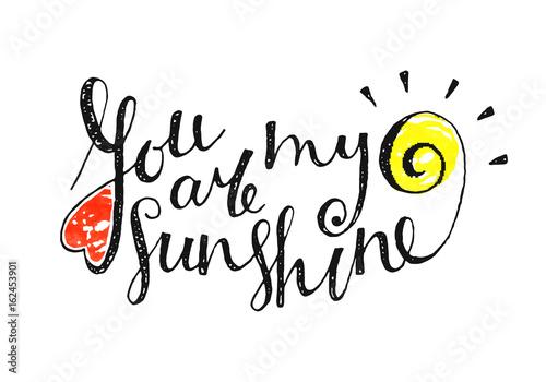 You are my sunshine inscrip...