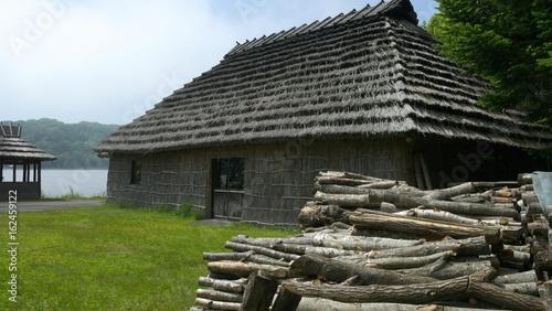 Photo アイヌコタンのチセ 古い集落 アイヌ文化