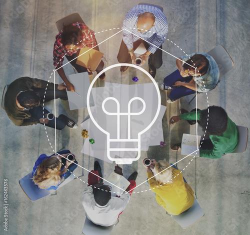 Obraz Creative Imagination Ideas Thoughts Graphic Concept - fototapety do salonu