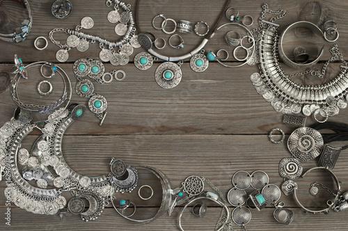 Foto auf AluDibond Boho-Stil Bohemian style jewelry set