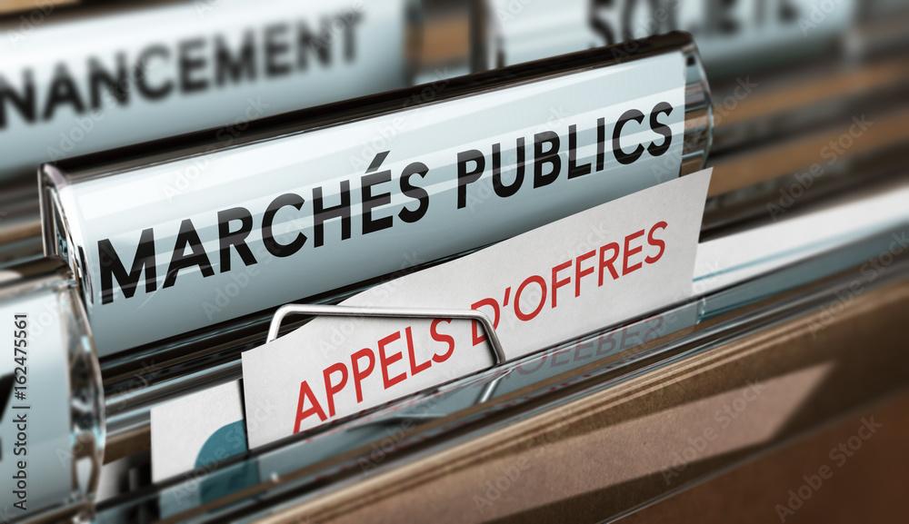 Fototapeta Passation d'appels d'offres de marchés publics