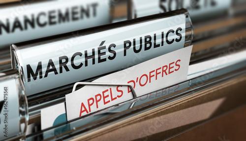 Fotografie, Obraz  Passation d'appels d'offres de marchés publics