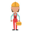 engineer construction or factory worker icon image