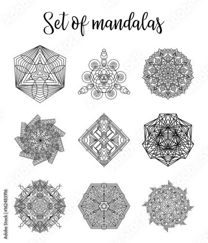 Decorative round ornaments anti-stress therapy. Set of ...
