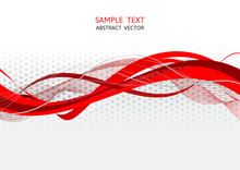 Red And Gray Wave Abstract Vec...