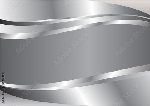 Fototapeta Silver wave abstract vector background obraz