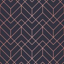 Geometric Pattern Consisting Of Lines. Trendy Copper Metallic Look.