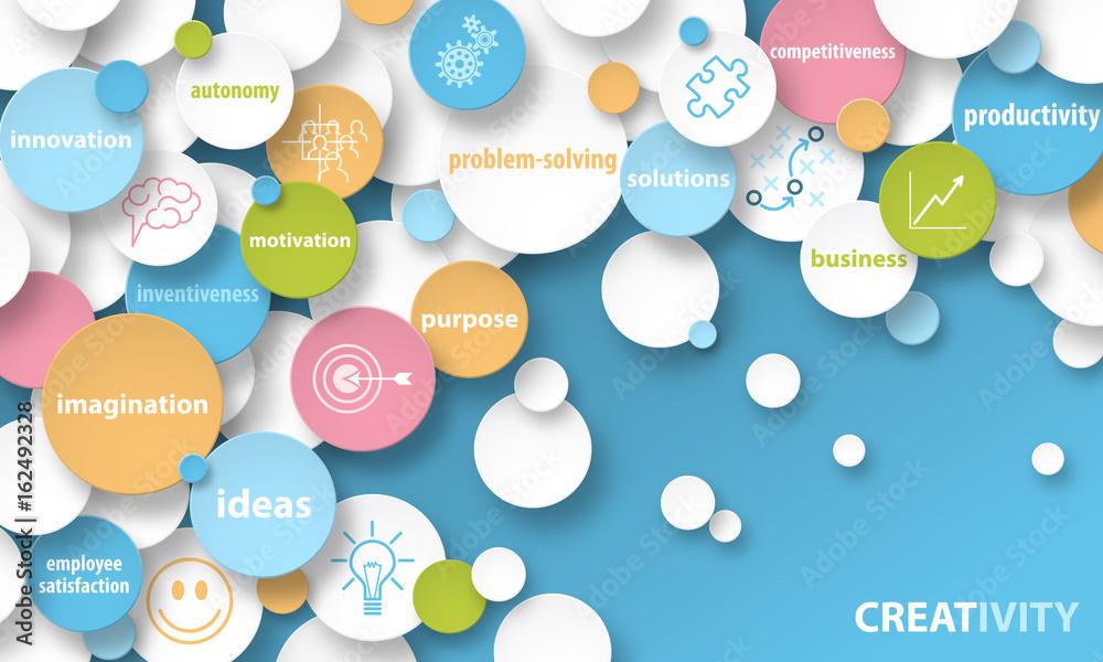 Fototapety, obrazy: CREATIVITY Vector Concept Banner