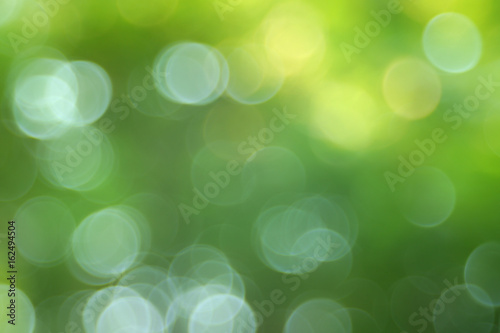 Abstract bokeh green bubble style effect