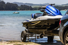 A Jet Ski About To Be Unloaded...
