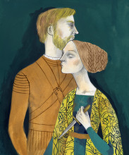 Man And Woman Holding A Knife
