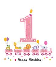 Happy First Birthday Greeting ...