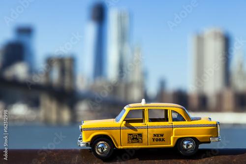 Foto op Plexiglas New York TAXI Yellow Taxi & New-York