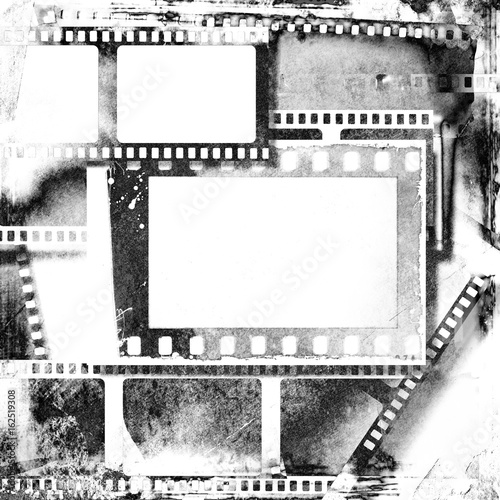 Vintage black and white film strip frame. - Buy this stock photo and ...