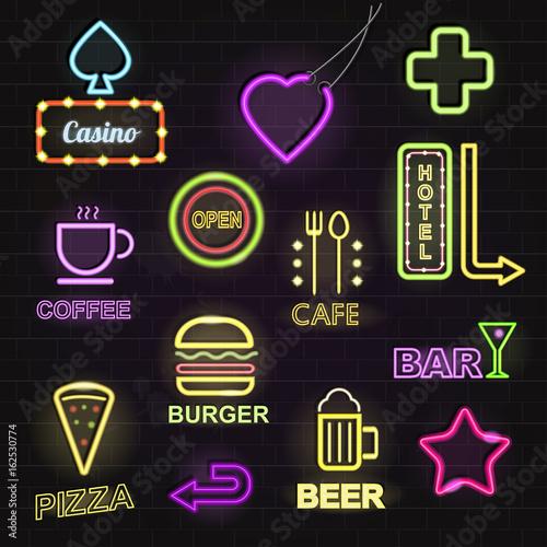 Black Light Hotel: Light Neon Light Hotels And Restaurants Promotion