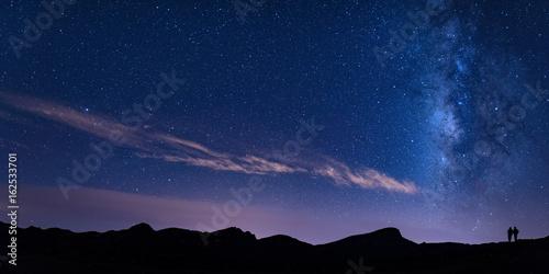 Zdjęcie XXL Teneryfa, Teide, Minas de San José, Gwiazdy, Droga Mleczna