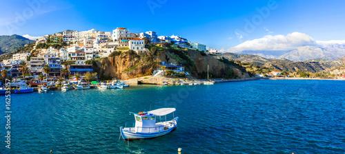 Fotobehang Kust Picturesque village Agia Galini in Crete island. Greece