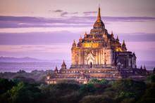 Pagoda Sunset In Bagan, Myanmar