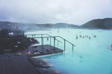 Famous Icelandic Geothermal Spa Resort Blue Lagoon Near Reykjavik In Iceland