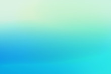 Simple Green Blue With Gradient Sunset Blured Background For Summer Design