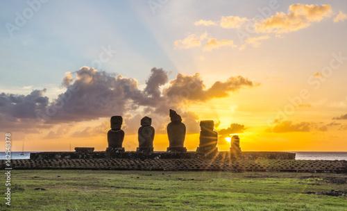 Photo Ahu Tahai, Easter Island, Chile