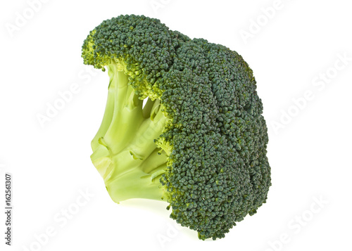 Fresh cabbage broccoli isolated on a white background