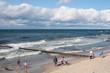 Widok plaży w Ustroniu Morskim