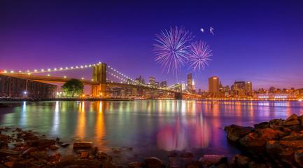 Fototapeta na wymiar New York Fireworks