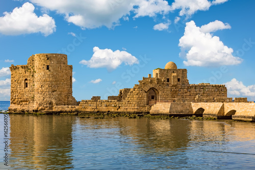 Poster Moyen-Orient Crusaders Sea Castle Sidon Saida in South Lebanon Middle east