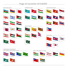 Big Set Of Flags Of Europe, Of...