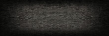 Black Brick Wall Panoramic Bac...