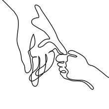 Baby Holding Little Finger Of ...