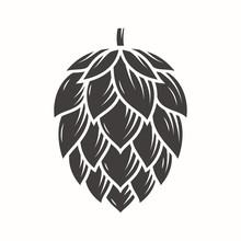 Hop Emblem Icon Label Logo. Ve...