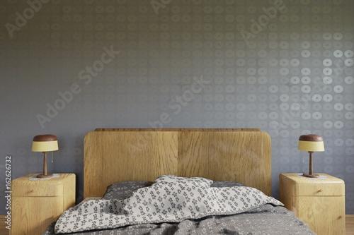 Clean interior - Modern PRL #3D Render Obraz na płótnie
